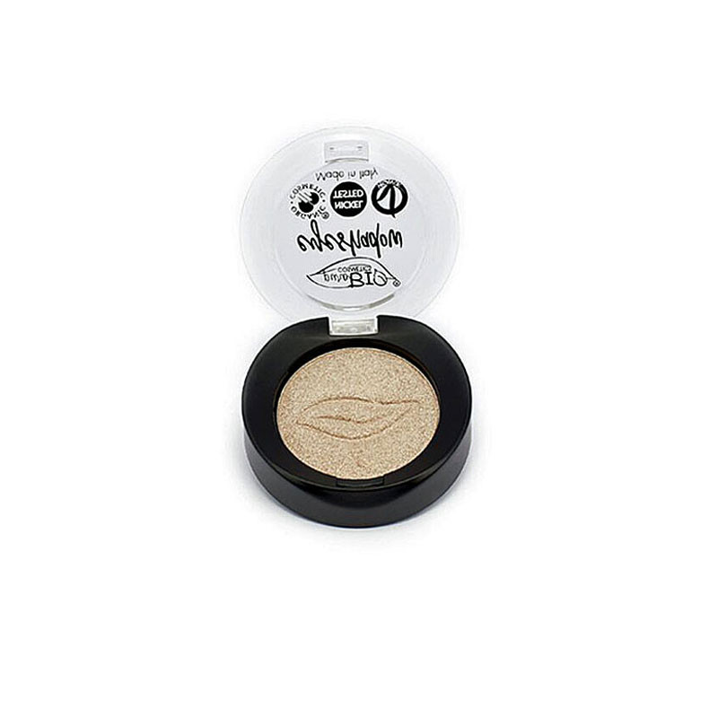 purobio ombretto in cialda champagne n°1 make up cosmesi naturale