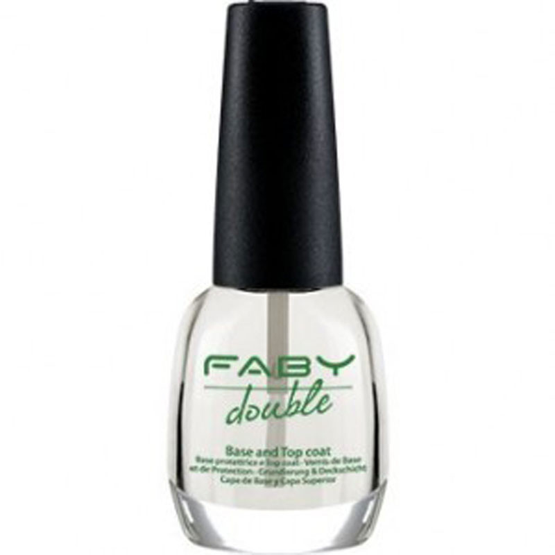 faby double base & top coat mani unghie smalto protegge naturale